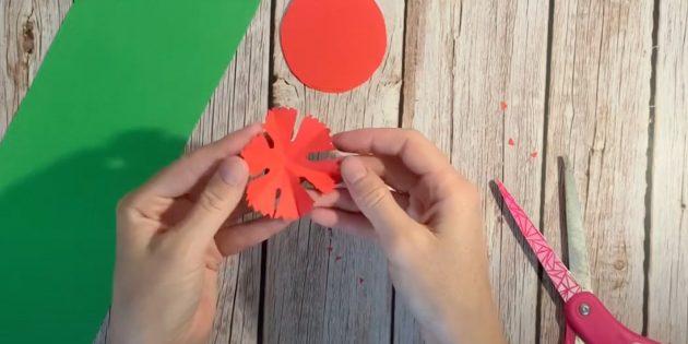 Поделки к 9Мая: Сделайте подложку для бутона