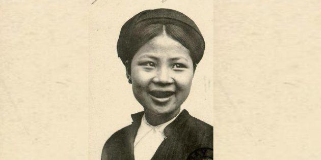 История косметики: вьетнамка с чернёными зубами, 1908год.