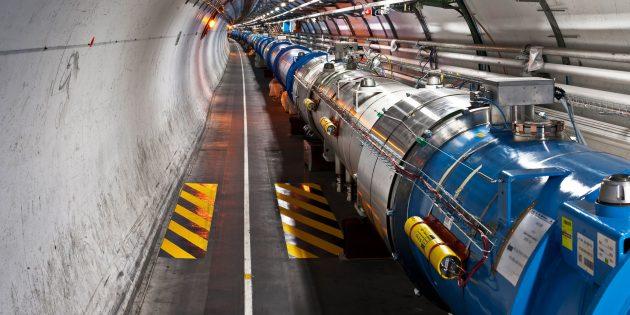 Фрагмент LHC, сектор 3-4Большого адронного коллайдера