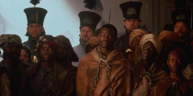 Кадр из фильма про рабство «Амистад»