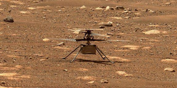 NASA впервые в истории запустило вертолёт над поверхностью Марса