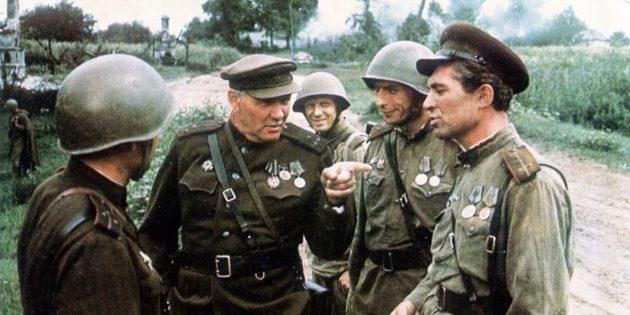 Кадр из фильма про танки «Освобождение: Огненная дуга»