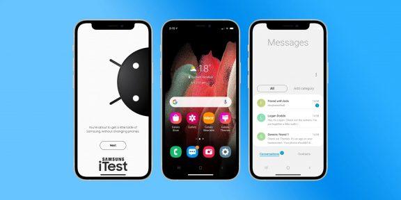 Samsung предложила пользователям iPhone опробовать интерфейс Android