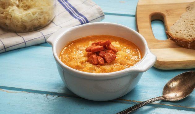Зелначка — чешский суп с квашеной капустой