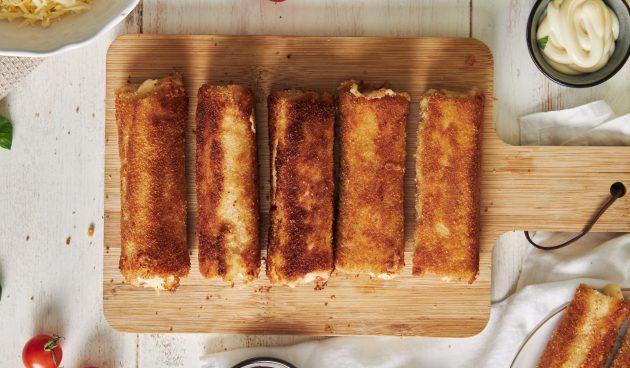 Сырные роллы из хлеба