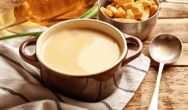 Необычный кукурузный суп с Cheetos