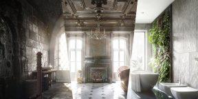 500 лет дизайна ванных комнат в 6 иллюстрациях