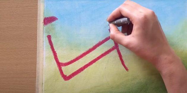 Как нарисовать велосипед: обведите раму и нарисуйте седло