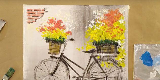 Как нарисовать велосипед: нарисуйте кирпичи