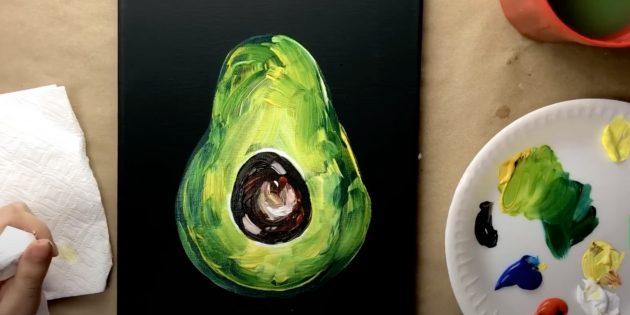 Нарисуйте косточку авокадо