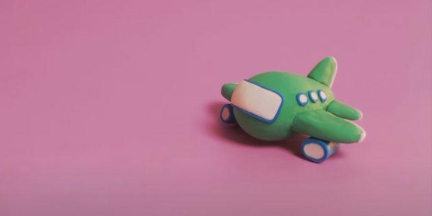 Поделка из пластилина «Самолёт»: сделайте двигатели