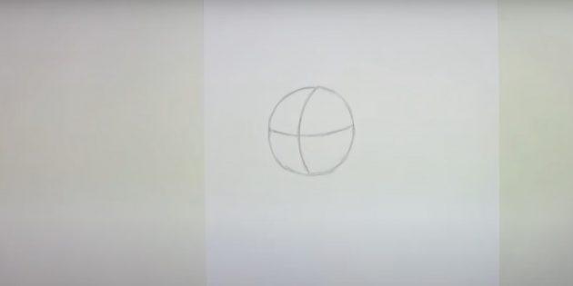 Как нарисовать сову: наметьте голову