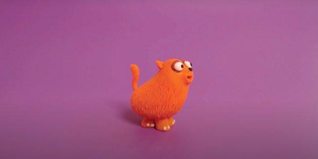 Кот из пластилина