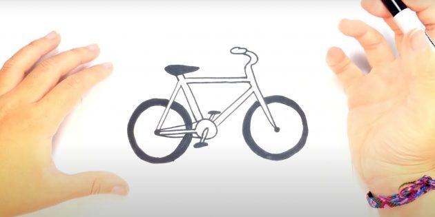 Как нарисовать велосипед: рисунок велосипеда маркером