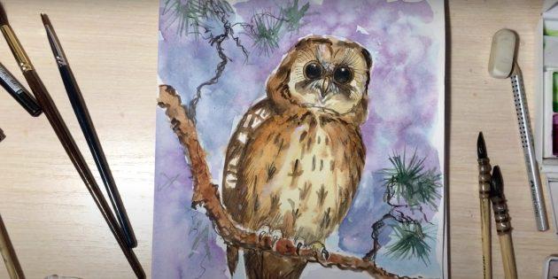 Как нарисовать сову: проработайте детали