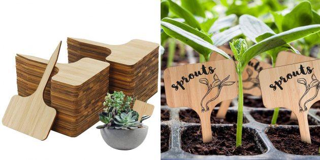 Товары для дачи: бирки для маркировки растений