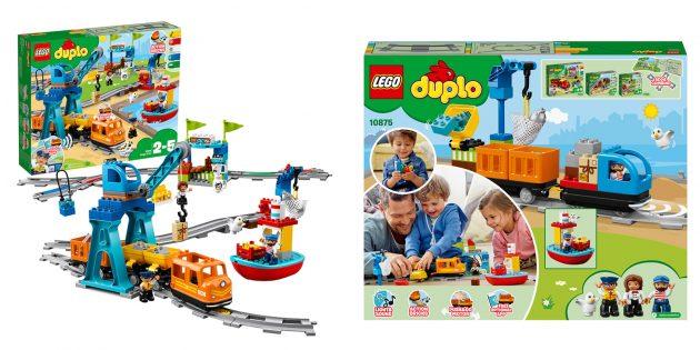 Lego Duplo Town Грузовой поезд