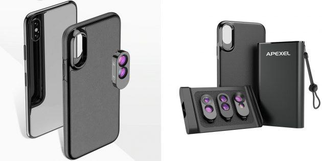 Чехол со сменными объективами для iPhone X