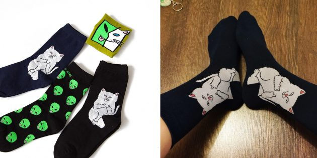 Носки со смелыми принтами