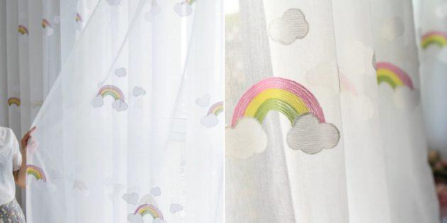 Товары для дизайна детской комнаты: тюль