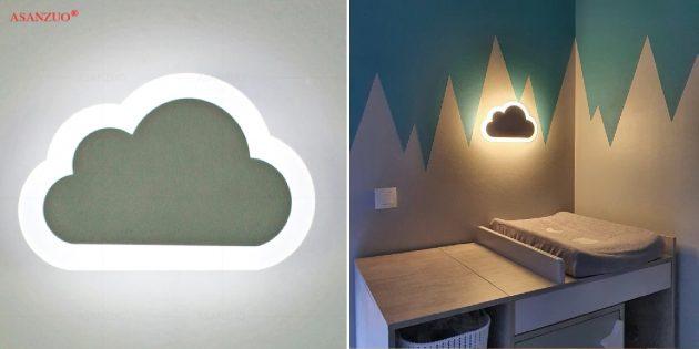 Товары для дизайна детской комнаты: светильник