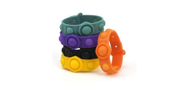 Необычные украшения: браслет с антистресс-пупырышками