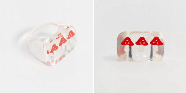 Необычные украшения: кольцо с мухоморами