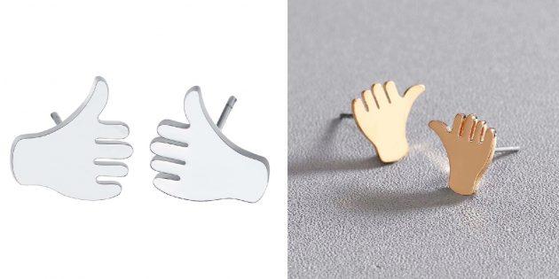 Необычные украшения: серьги с жестами