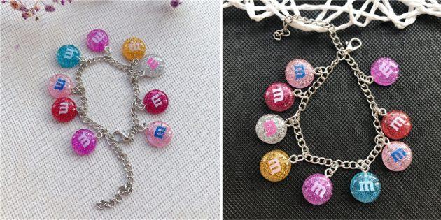 Необычные украшения: браслет с M&M's