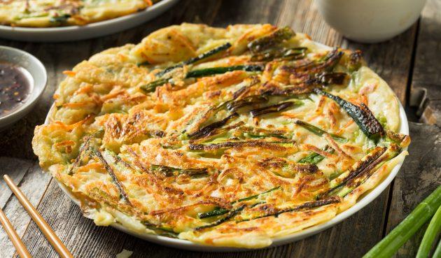 Паджон — корейские блины с зелёным луком