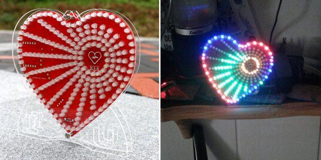 Электронные конструкторы с AliExpress: сердце с подсветкой