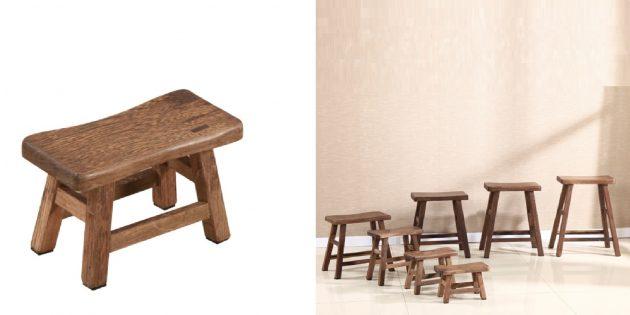 Деревянные аксессуары для дома: табурет