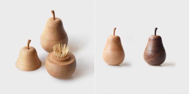 Деревянные аксессуары для дома: футляр для зубочисток