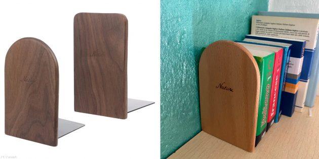 Деревянные аксессуары для дома: книжные держатели