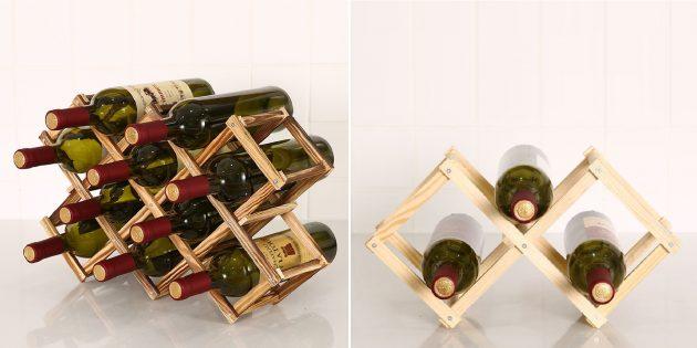 Деревянные аксессуары для дома: держатель для винных бутылок