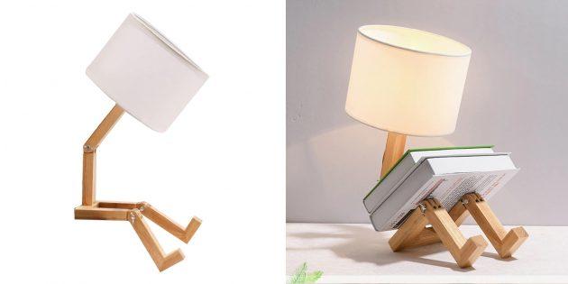 Деревянные аксессуары для дома: настольная лампа