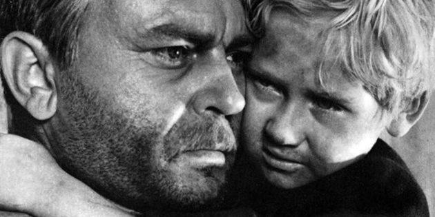 Кадр из фильма про концлагерь «Судьба человека»
