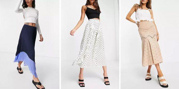 Модные юбки 2021года: плиссированные юбки