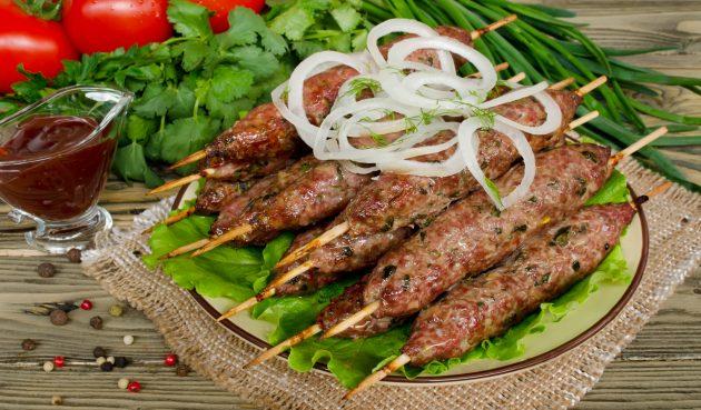 Кебаб из говядины и баранины