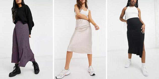 Модные юбки 2021года: Юбки-комбинации
