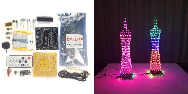 Электронные конструкторы с AliExpress: светодиодная башня