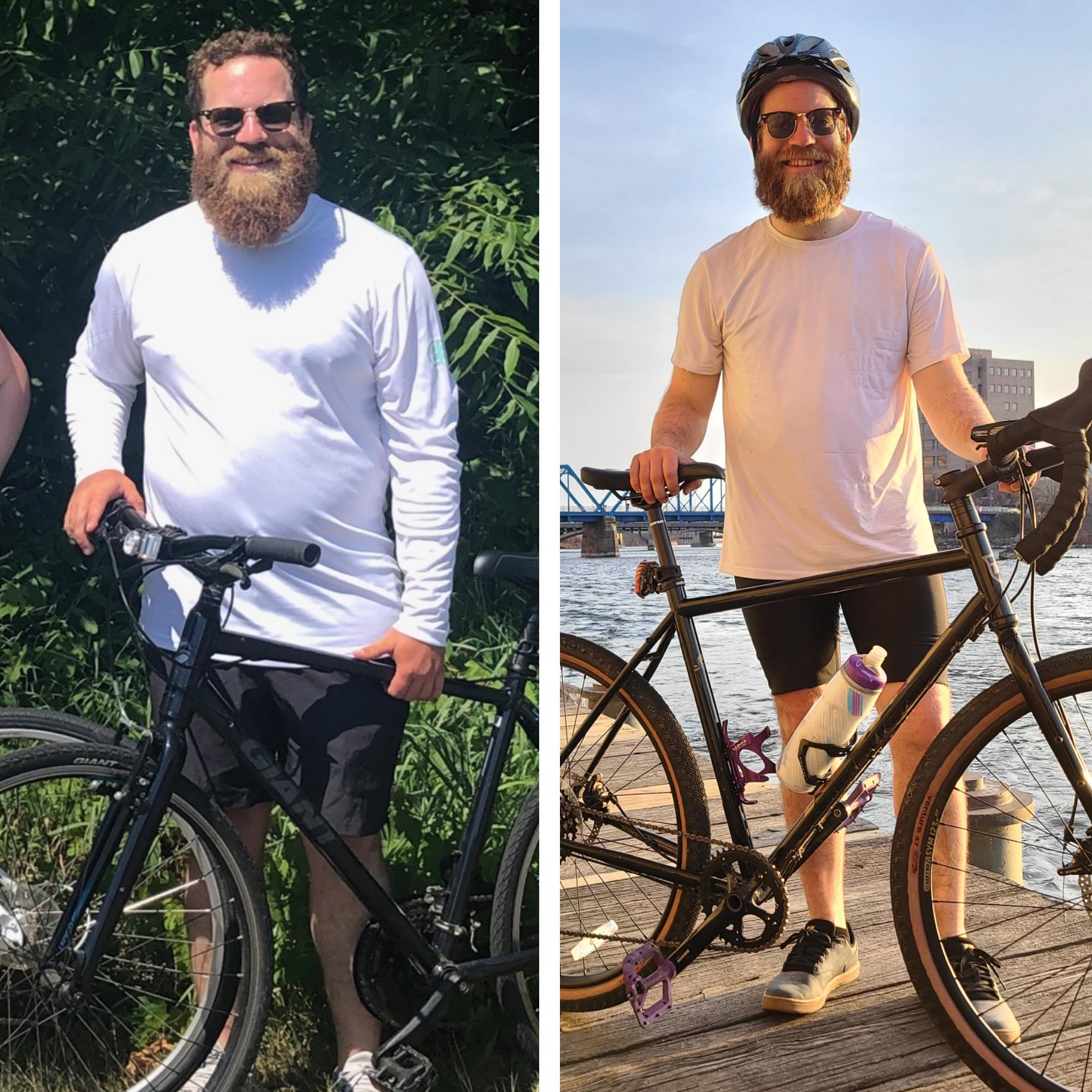 до и после велосипеда