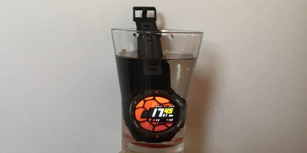 Amazfit T‑Rex Pro: испытание водой