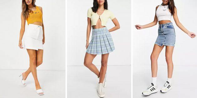 Модные юбки 2021года: мини-юбки