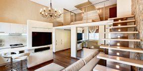 Лайфхак: как увеличить полезную площадь в квартире с высокими потолками