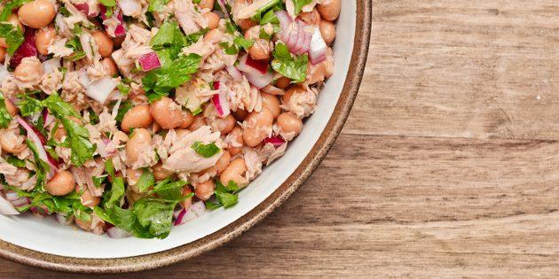 Салат из тунца и фасоли