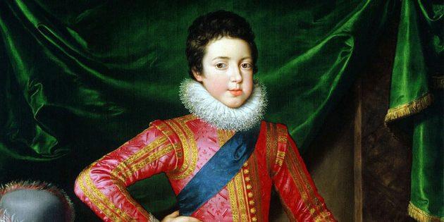 Дети Средневековья: портрет Людовика XIII в детстве, Франс Пурбус Младший