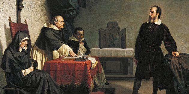 «Галилей перед лицом римской инквизиции», картина Кристиано Банти