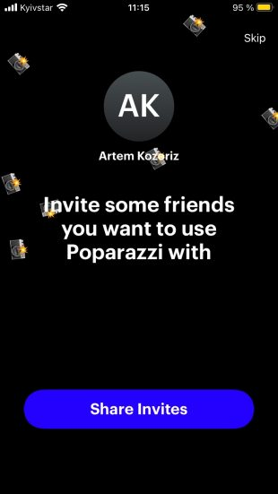 Установка и регистрация Poparazzi