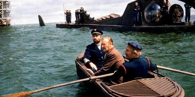 Фильмы про подводные лодки: «20000лье под водой»